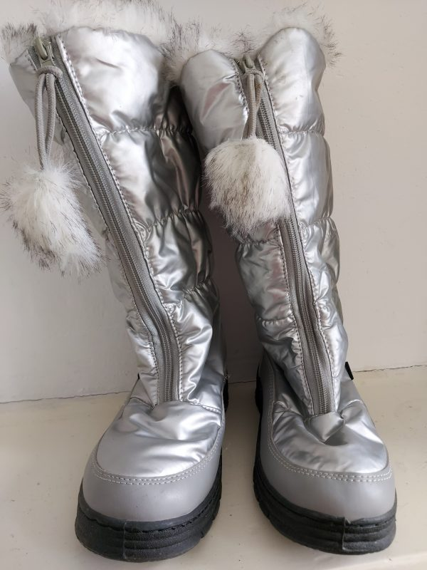 Dames snowboots zilver mt 38