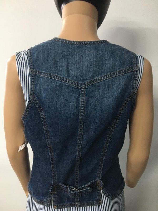 Jeansvestachterkant